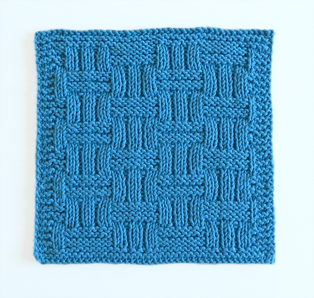 WICKER Stitch Dishcloth Oh La Lana! Knitting Blog