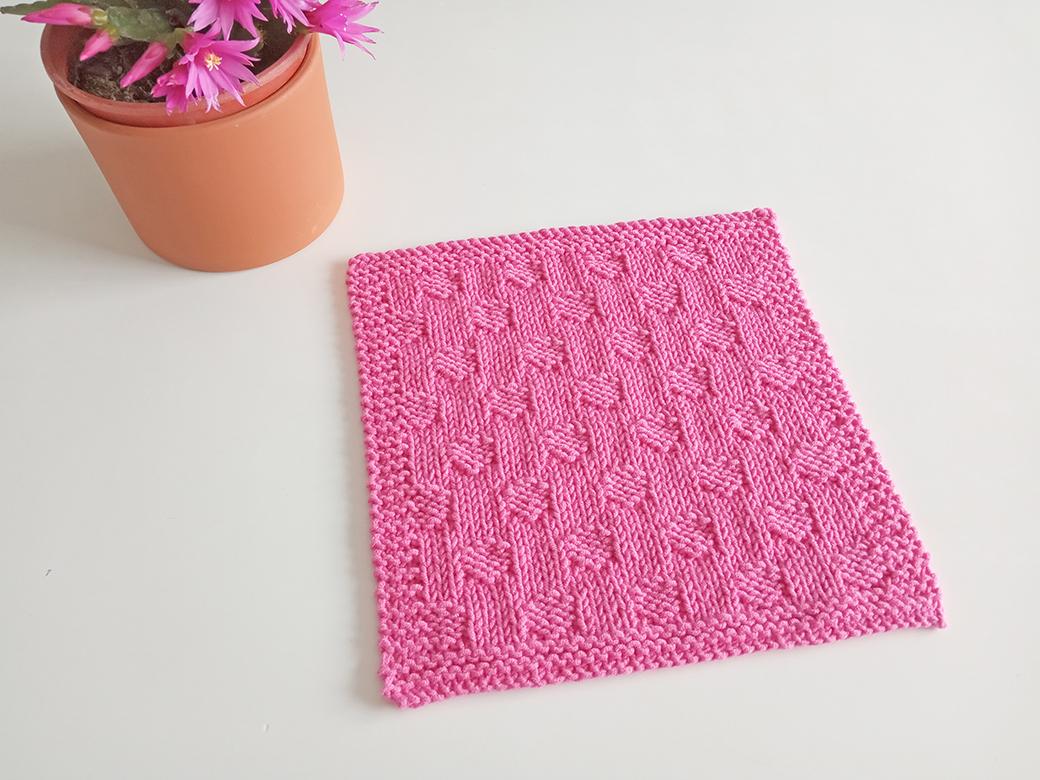 SMALL POLKA DOTS stitch knitting pattern 52 SQUARE PICKUP knitted blanket SMALL POLKA DOTS knitting pattern OhLaLana dishcloth free pattern