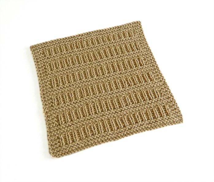 MOCK DROP STITCH stitch knitting pattern 52 SQUARE PICKUP knitted blanket MOCK DROP STITCH knitting pattern OhLaLana dishcloth free pattern