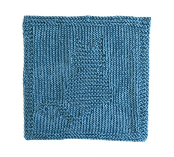 CAT dishcloth, CAT pattern, BEGINNER BLANKET MKAL 2020, CAT dishcloth pattern, CAT knitting pattern, OhLaLana dishcloth free pattern