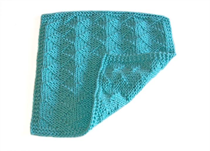 STOCKINETTE ZIG ZAG dishcloth, ZIG ZAG stitch knitting pattern 52 SQUARE PICKUP knitted blanket STOCKINETTE ZIG ZAG knitting pattern OhLaLana dishcloth free pattern