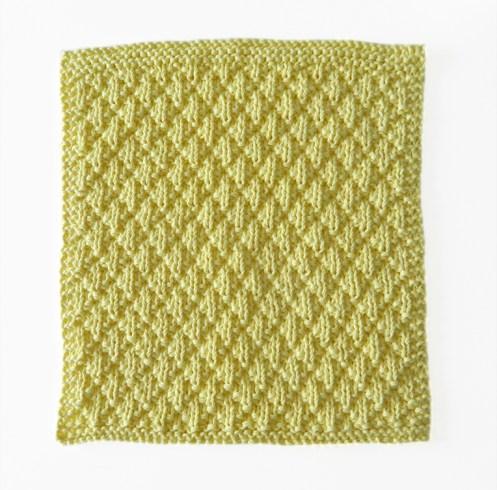 diamond padding knitting pattern, ohlalana, dishcloth pattern