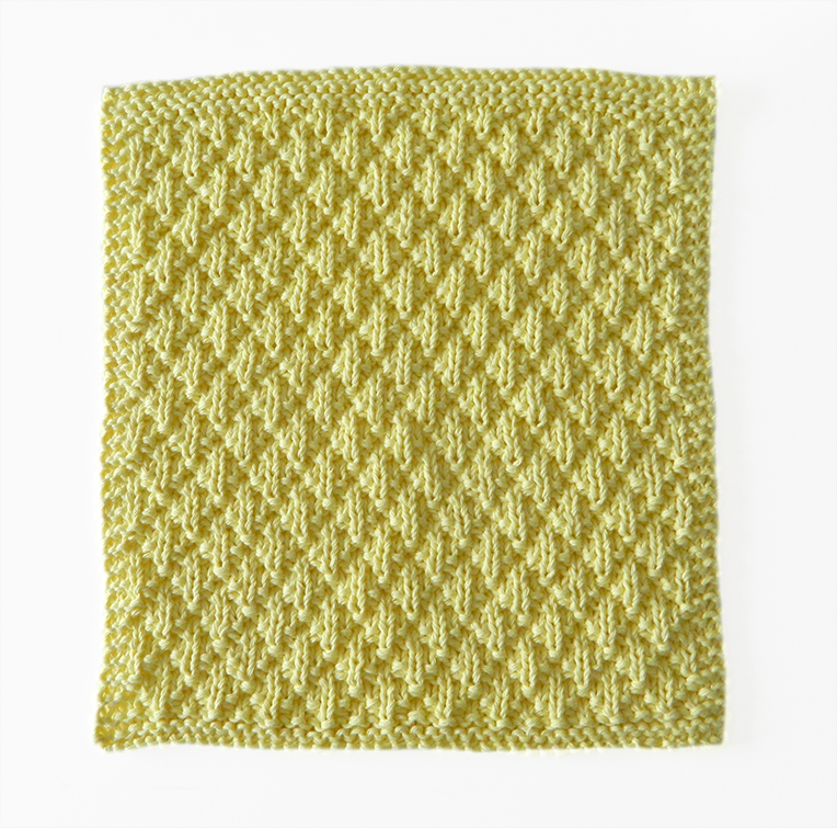 diamond padding knitting pattern, ohlalana, dishcloth pattern