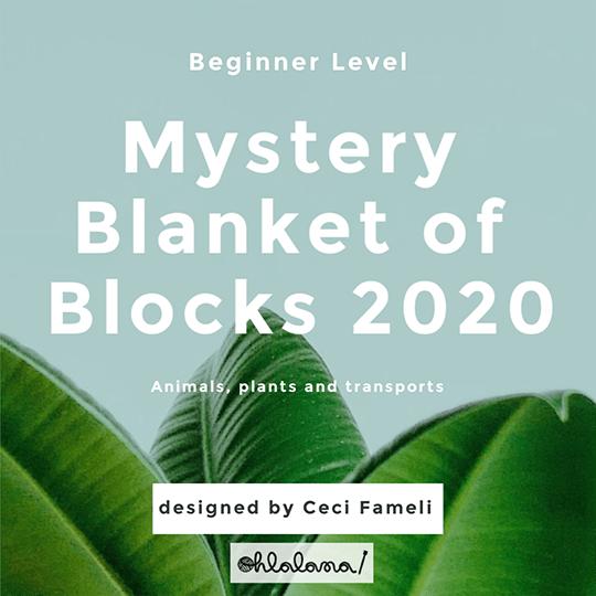 Beginner Blanket MKAL 2020, ohlalana, ohlalana pattern, beginner pattern, beginner KAL, free knitting pattern