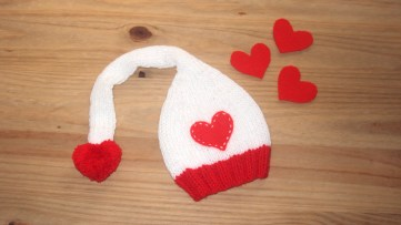 valentines hat, heart hat, valentines baby, ohlalana