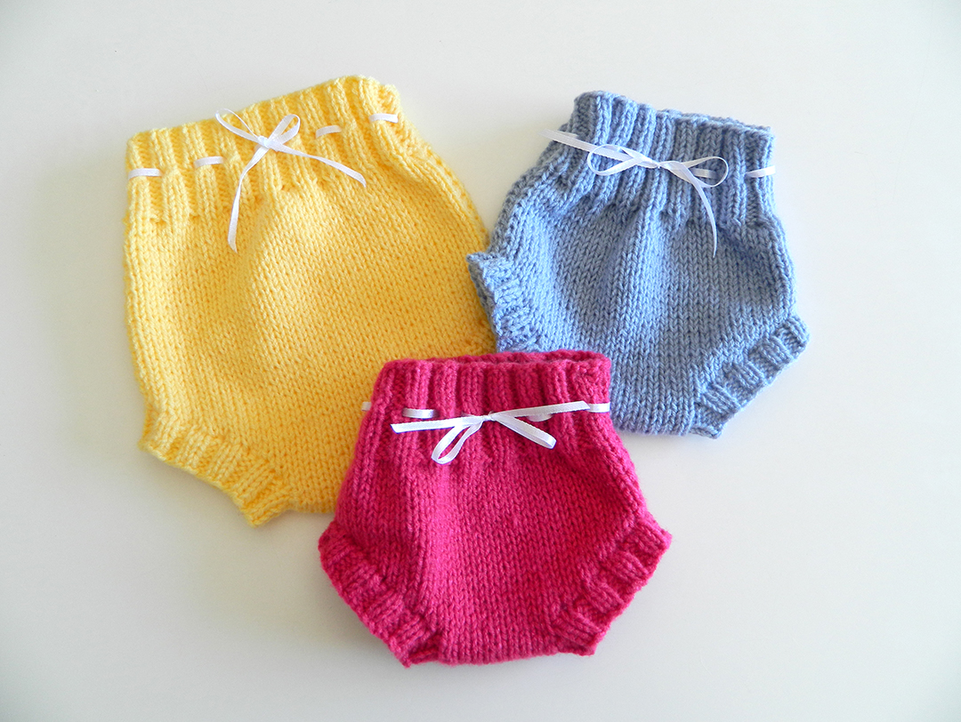 EASY BABY BLOOMERS KNITTING PATTERN / KNIT DIAPER COVER PATTERN
