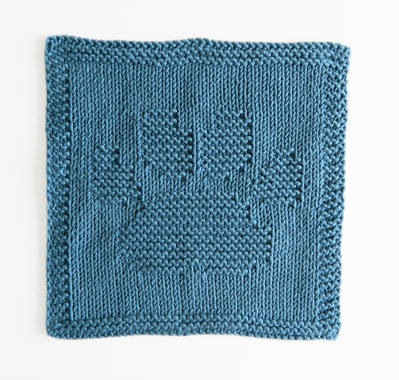 DOG PAW dishcloth, DOG PAW pattern, BEGINNER BLANKET MKAL 2020, DOG PAW dishcloth pattern, DOG PAW knitting pattern, OhLaLana dishcloth free pattern