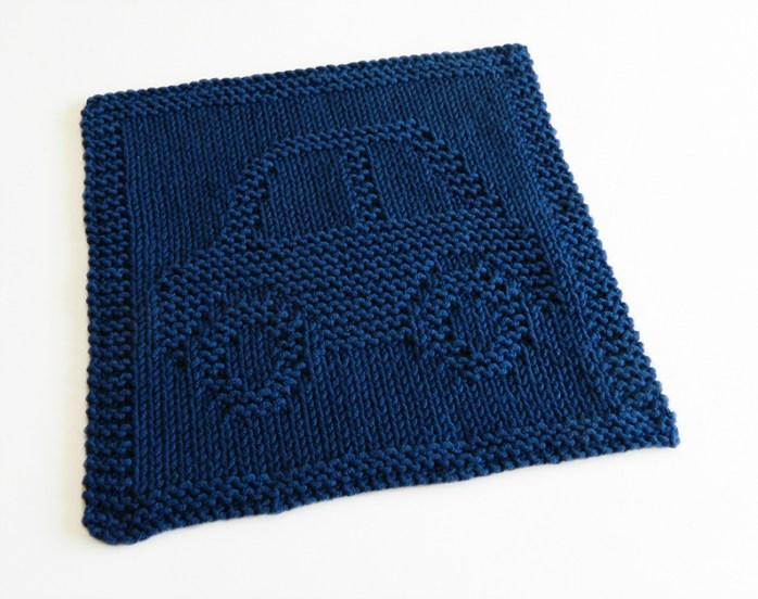 CAR knitting pattern, CAR dishcloth, CAR pattern, transports dishcloth, BEGINNER BLANKET MKAL 2020, OhLaLana dishcloth free pattern