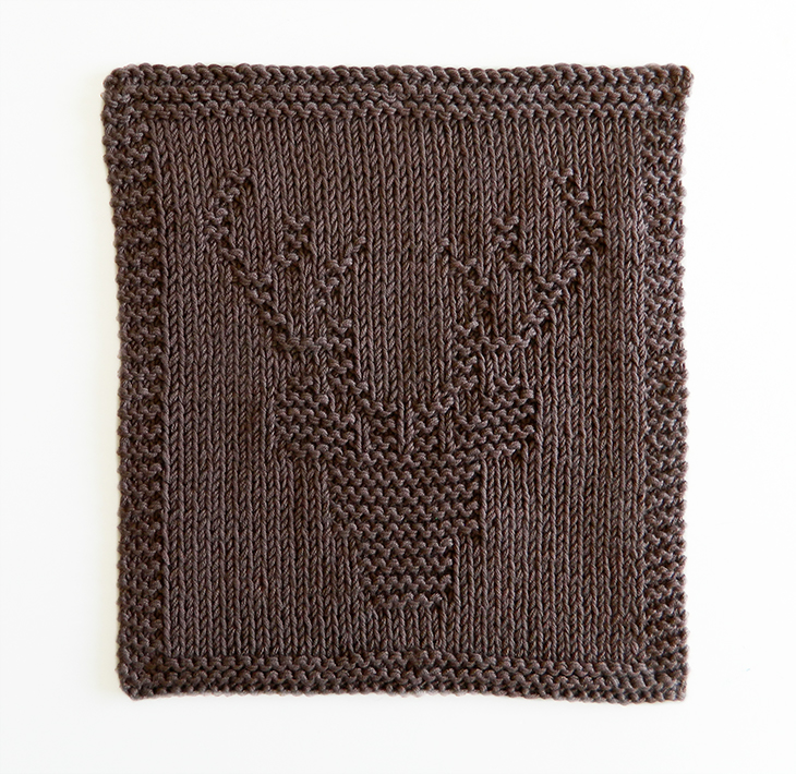 STAG knitting pattern, STAG dishcloth, STAG pattern, BEGINNER BLANKET MKAL 2020, STAG HEAD knitting pattern, STAG HEAD dishcloth, OhLaLana dishcloth free pattern