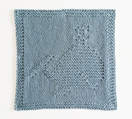 WHALE knitting pattern, WHALE dishcloth, WHALE pattern, BEGINNER BLANKET MKAL 2020, OhLaLana dishcloth free pattern