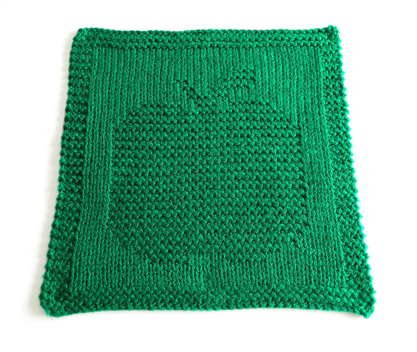 APPLE dishcloth pattern, APPLE pattern, BEGINNER BLANKET MKAL 2020, apple knitting pattern, fruits dishcloth, OhLaLana dishcloth free pattern