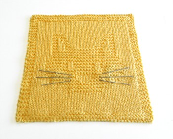 CAT HEAD dishcloth, CAT HEAD pattern, CAT dishcloth pattern, CAT knitting pattern, OhLaLana dishcloth free pattern