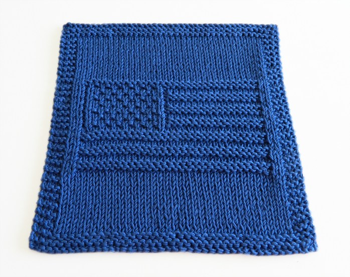 USA FLAG knitting pattern, USA FLAG dishcloth, USA beginner pattern, free dishcloth pattern, knitting USA pattern, OhLaLana