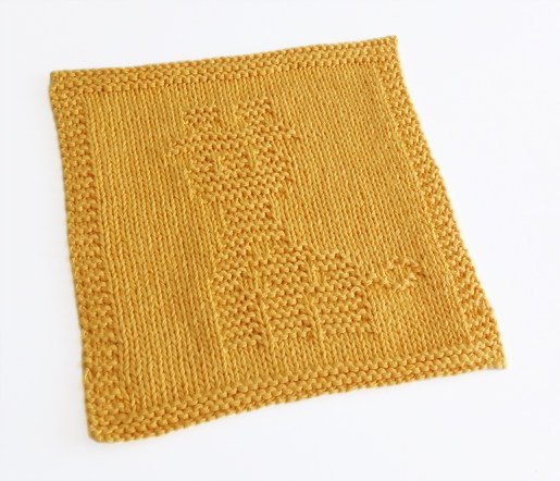 GIRAFFE knitting pattern, GIRAFFE dishcloth, GIRAFFE pattern, BEGINNER BLANKET MKAL 2020, OhLaLana dishcloth free pattern