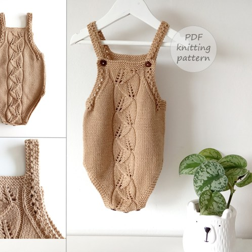 bosque baby romper pattern