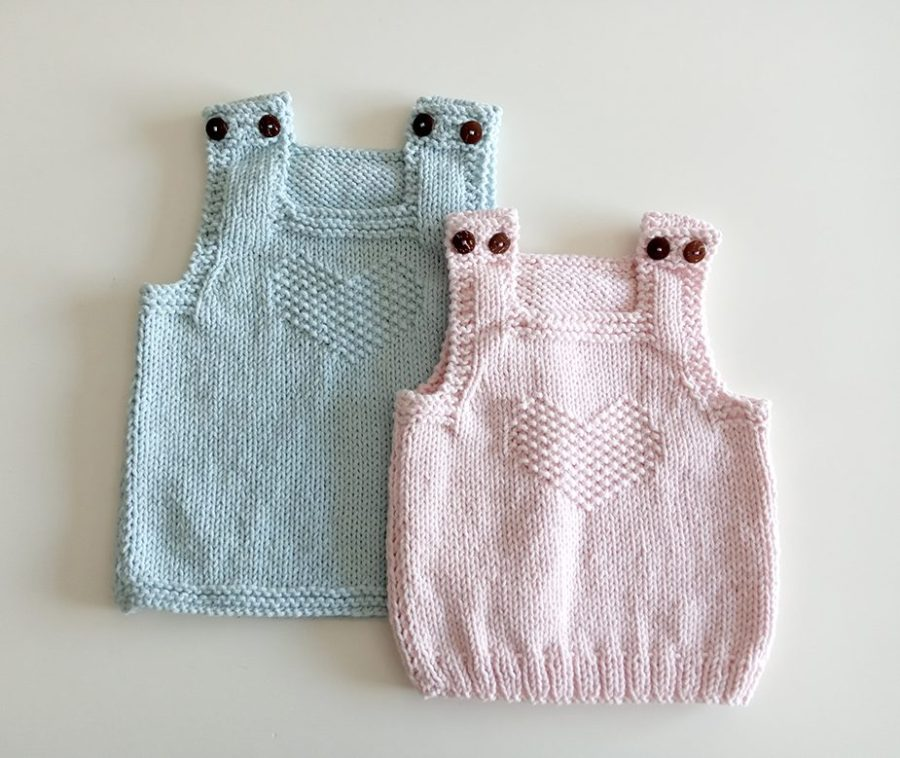 heart baby vest pattern