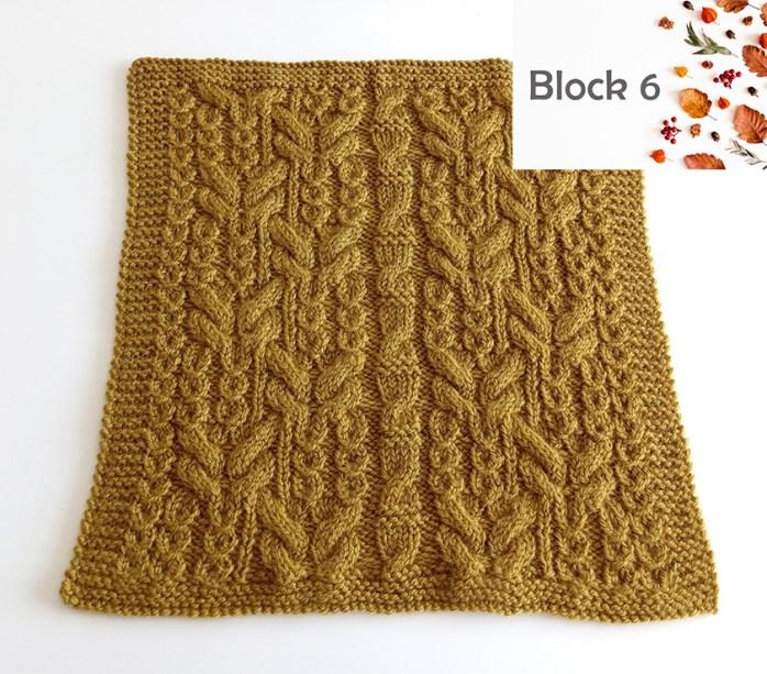 BLOCK 6 of Blanket MKAL 2021, ohlalana, free blanket KAL