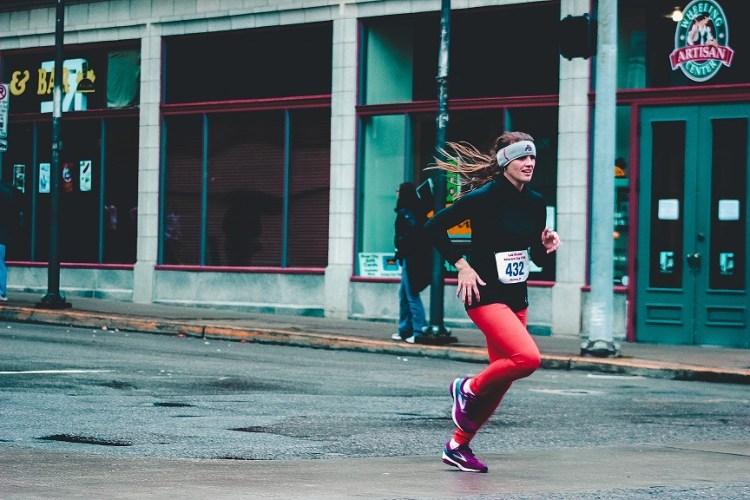 runner in street
