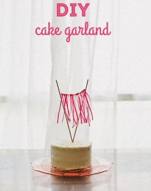 DIY ombré cake ribbon garland