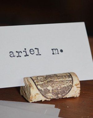 DIY Cork Placecard Holders | Oh Lovely Day