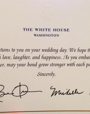 invite the President to your wedding