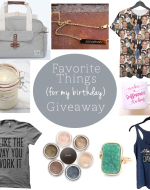 Oh Lovely Day Favorite Things Birthday Giveaway | ohlovelyday.com