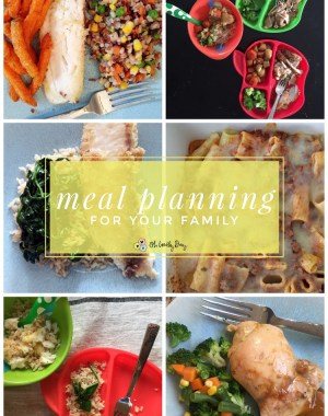 Tips and Ideas for Family Meal Planning: How one mom of three finally figured out how to meal plan successfully without a ton of work. Great tips for healthy meals that are family pleasers and save money by planning ahead!