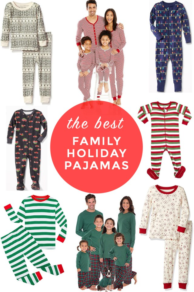 rounding up the best christmas holiday pjs for the whole family