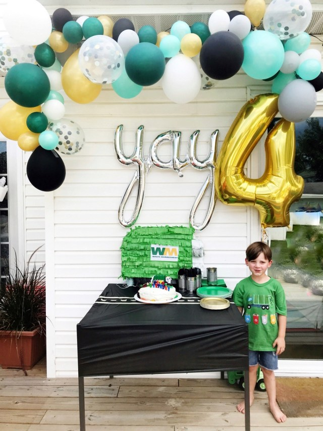 Calvin's Garbage Truck 4th Birthday Party