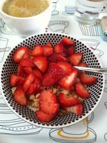 Jahodová snídaně