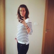 Toto je fotka z doby, kdy jsem byla v polovině těhotenství, zbývá 20 týdnů
