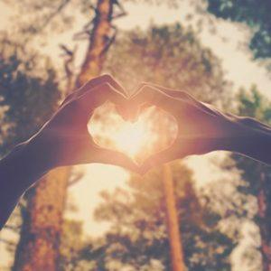Coeur avec ses mains