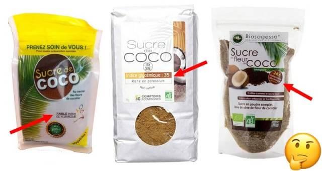 Indice glycémique du sucre de coco