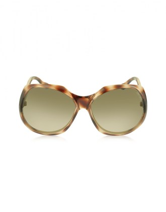 JIMMY CHOO Brown Oversized Frame Sunglasses - $280