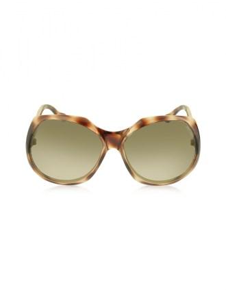 JIMMY CHOO Brown Oversized Frame Sunglasses - $280