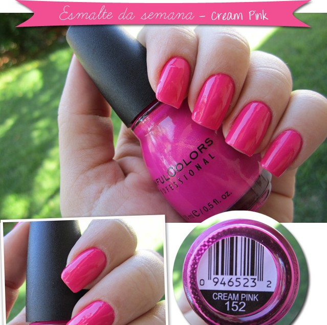 Cream Pink Sinful Colors esmalte da semana