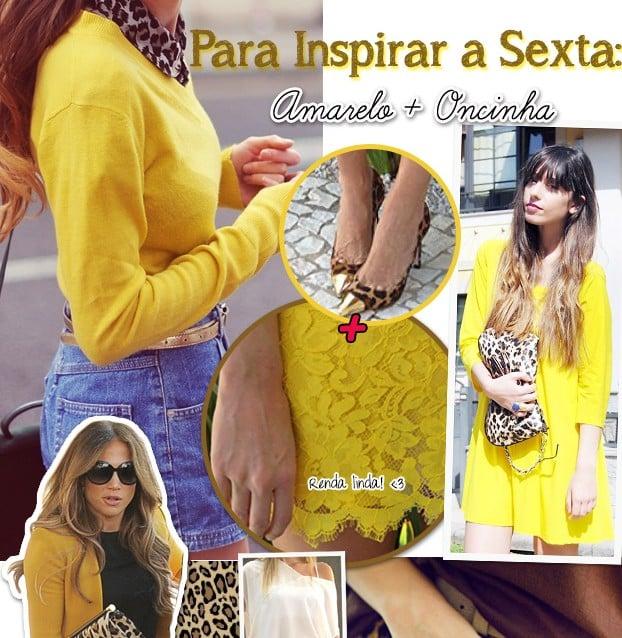 Inspiração amarelo oncinha tendencia blog de moda