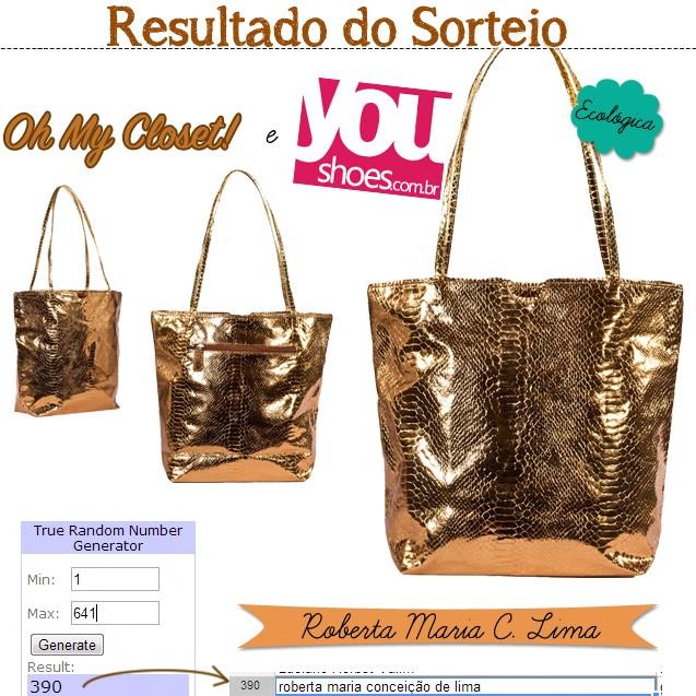 resultado sorteio bolsa youshoes oh mycloset blog de moda