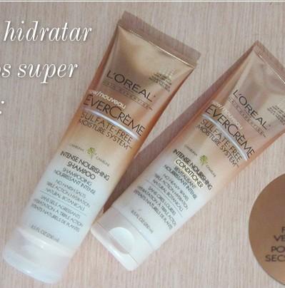 dica cabelos hidratacao shampoo condicionador hidratante loreal evercreme blog de moda