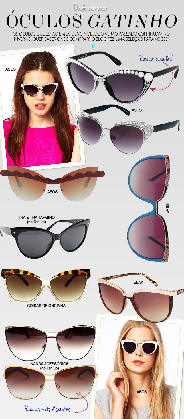 dica onde comprar óculos gatinho Oh My Closet! f41550c179