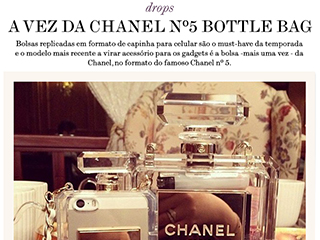 capinha para celular chanel blog de moda oh my closet bottle bag case iphone 5 5s chanel capinha bolsa celular moda dica