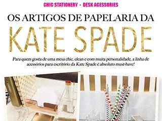 Vem conhecer os artigos de papelaria e escritório da Kate Spade!