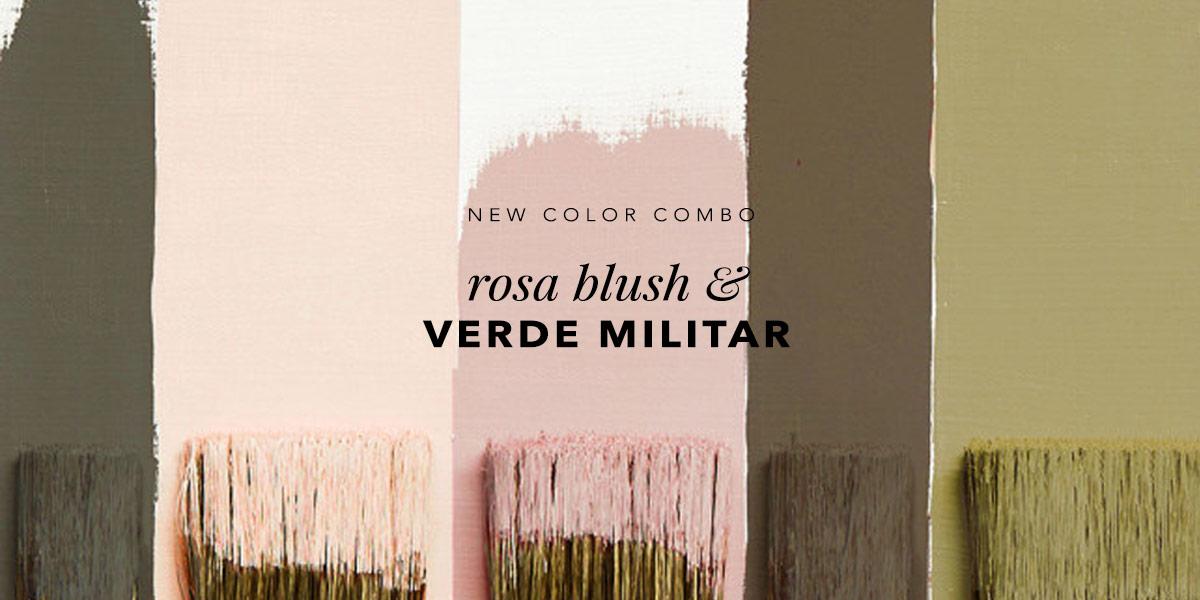 Combo de cores do momento: rosa blush e verde militar. Veja a tendência no Oh My Closet!