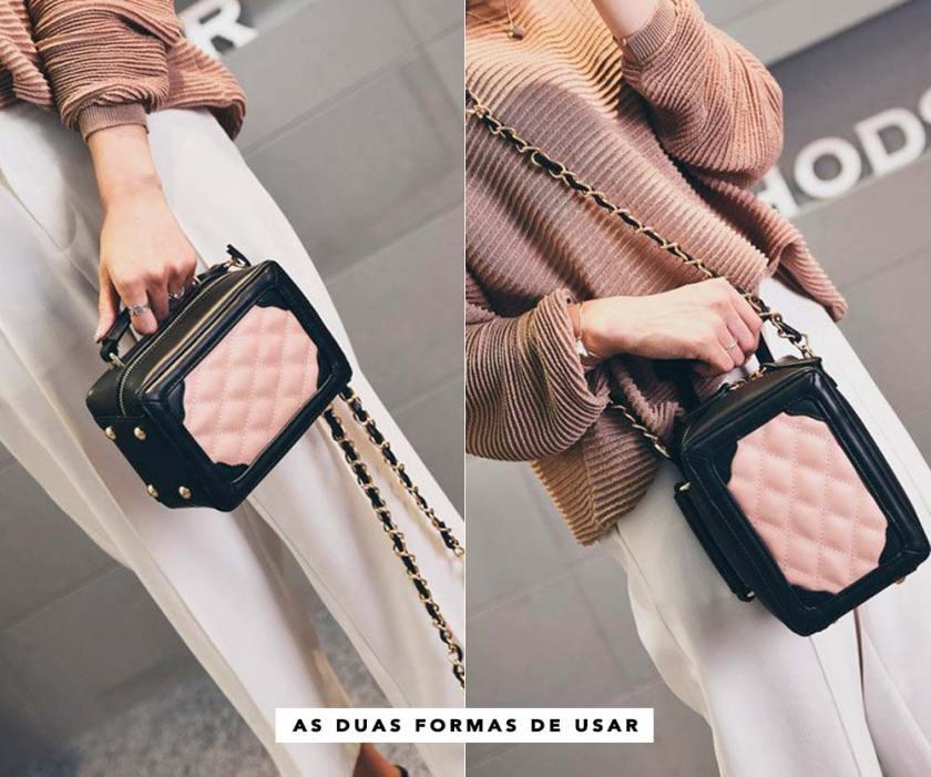 Bolsa matelassê Chanel inspired It Bag Achados Oh My Closet