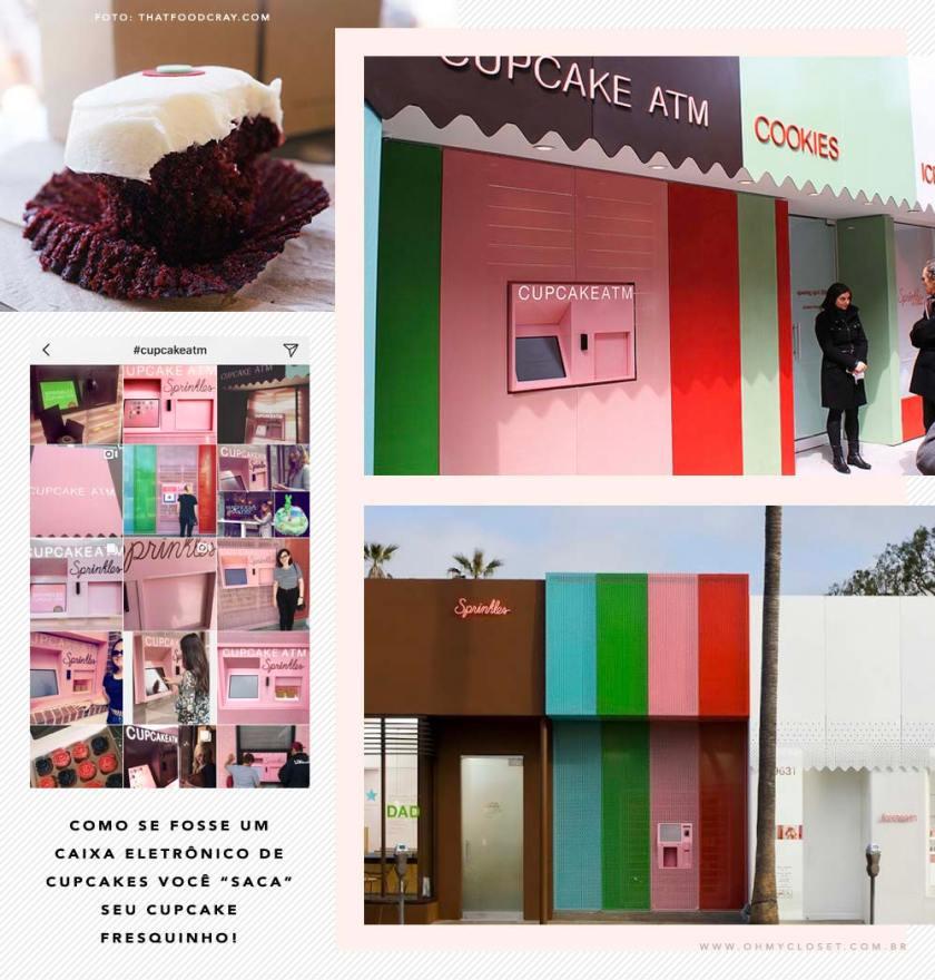Cupcake ATM da Sprinkles, saiba onde encontrar.