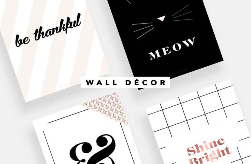 Wall Art, freebies para deçor de quarto ou home office.
