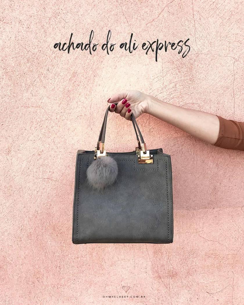 Bolsa barata do Ali Express, super tendência!