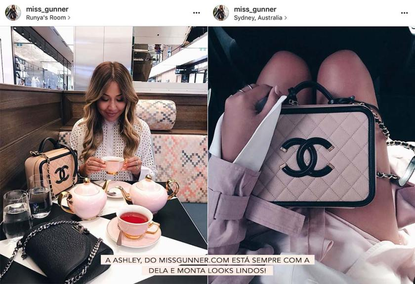 Ashley Miss Gunner com a Chanel Filigree.