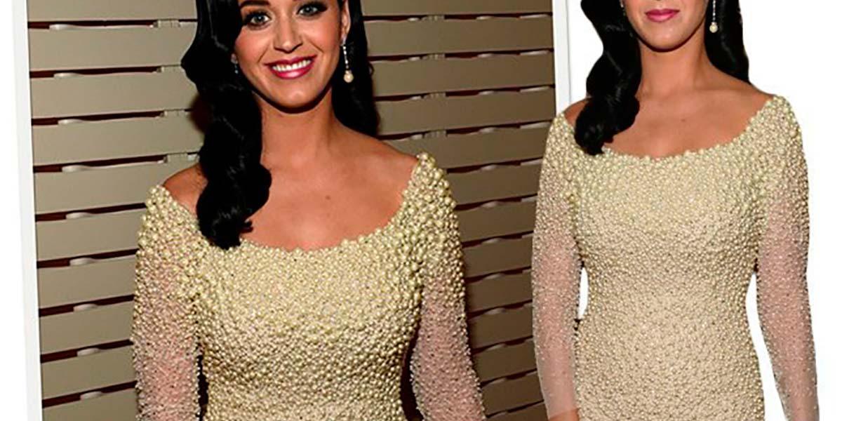 vestido de pérolas da Katy Perry