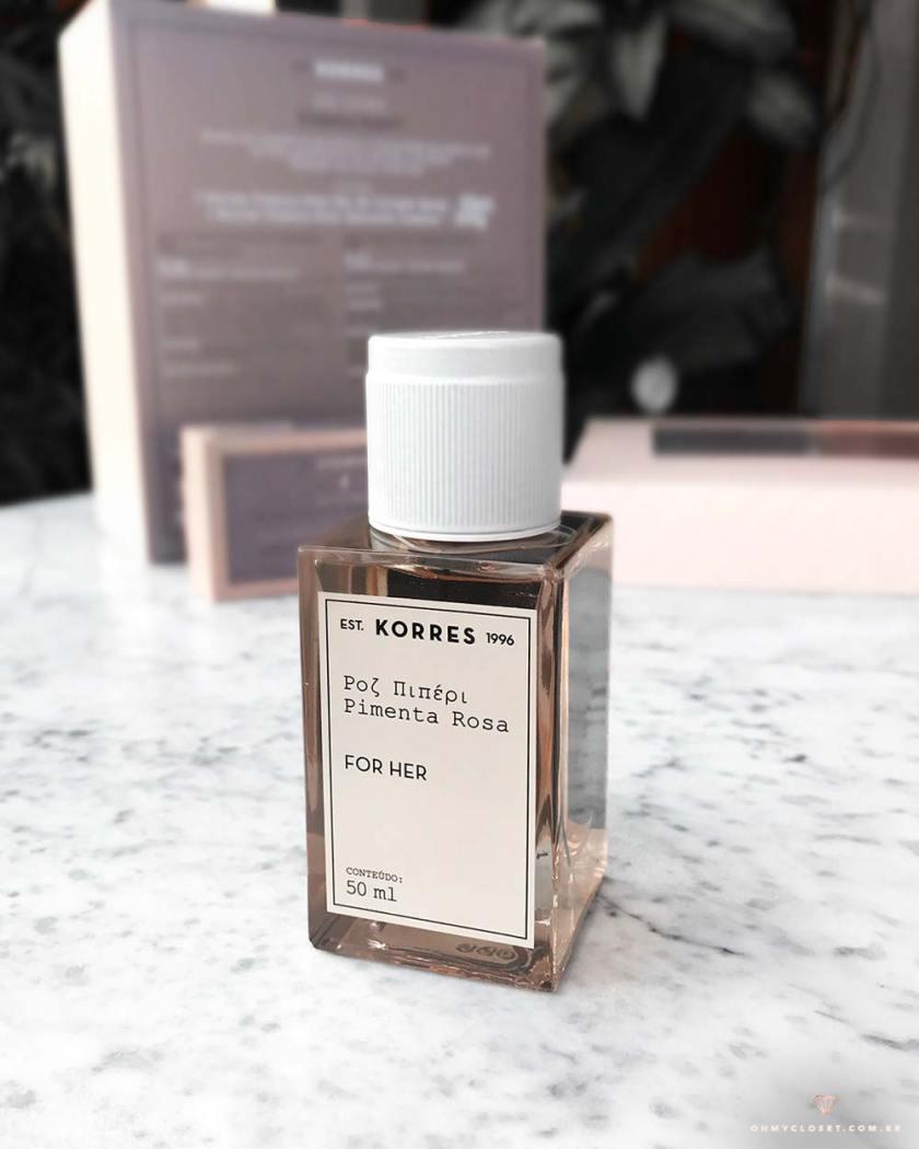 Close perfume korres pimenta rosa